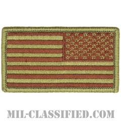 星条旗 OCP ブラウン刺繍(リバース)(USA Flag (Reversed))[ベルクロ付パッチ]の画像