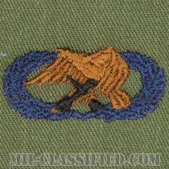 整備・弾薬章(Maintenance and Munitions Badge, Basic)[サブデュード/ブルー刺繍/パッチ]の画像