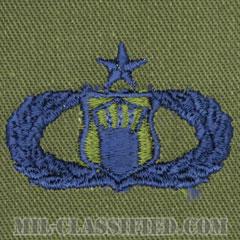 航空交通管制章 (シニア)(Air Traffic Control Badge, Senior)[サブデュード/ブルー刺繍/パッチ]の画像