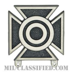 射撃技術章 (シャープシューター)(Marksmanship Badge, Sharpshooter)[カラー/燻し銀/バッジ]の画像