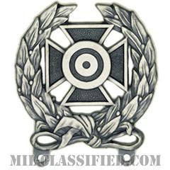 射撃技術章 (エキスパート)(Marksmanship Badge, Expert)[カラー/燻し銀/バッジ]の画像