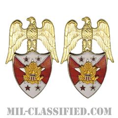 アメリカ合衆国陸軍参謀副総長補佐官(Aide to the Vice Chief of Staff of the Army)[カラー/兵科章(将校用)/バッジ/ペア(2個1組)]の画像