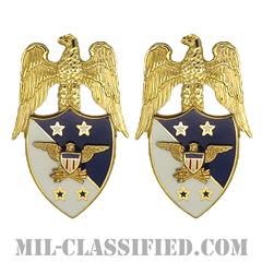 アメリカ統合参謀本部議長補佐官(Aide to the Chairman of the Joint Chiefs of Staff)[カラー/兵科章(将校用)/バッジ/ペア(2個1組)]の画像
