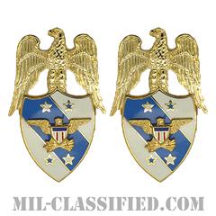 アメリカ統合参謀本部副議長補佐官(Aide to the Vice Chairman of the Joint Chiefs of Staff)[カラー/兵科章(将校用)/バッジ/ペア(2個1組)]の画像