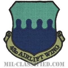 第43空輸航空団(43rd Airlift Wing)[サブデュード/カットエッジ/パッチ]の画像