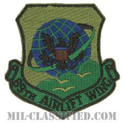 第89空輸航空団(89th Airlift Wing)[サブデュード/カットエッジ/パッチ]の画像