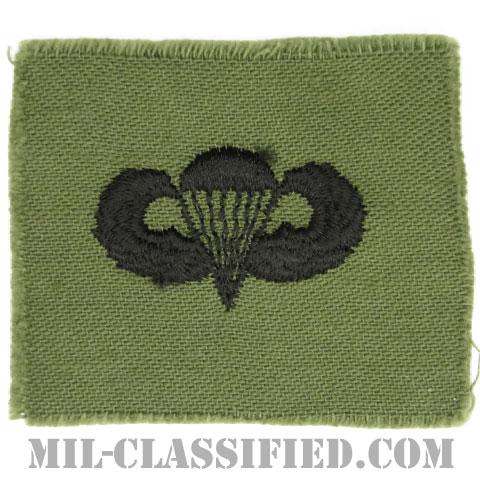空挺章 (ベーシック)(Parachutist Badge, Basic)[サブデュード/1960s/コットン100%/パッチ]の画像