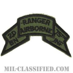 第75レンジャー連隊第2大隊(2nd Battalion, 75th Ranger Regiment)[サブデュード/1974-1984/カットエッジ/パッチ]の画像