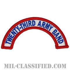 第23音楽隊タブ(23rd Army Band Tab)[カラー/メロウエッジ/パッチ]の画像