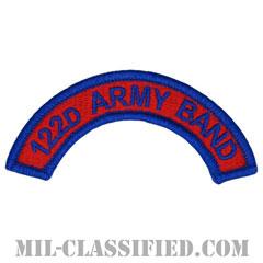 第122音楽隊タブ(122nd Army Band Tab)[カラー/メロウエッジ/パッチ]の画像