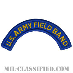 野戦音楽隊タブ(U.S. ARMY Field Band Tab)[カラー/メロウエッジ/パッチ]の画像