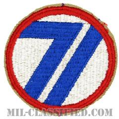 第71歩兵師団(71st Infantry Division)[カラー/カットエッジ/パッチ]の画像