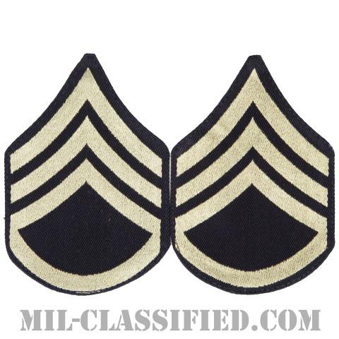 二等軍曹(Staff Sergeant (SSG))[機械織りタイプ/階級章(1942-1948)/パッチ/ペア(2枚1組)]画像