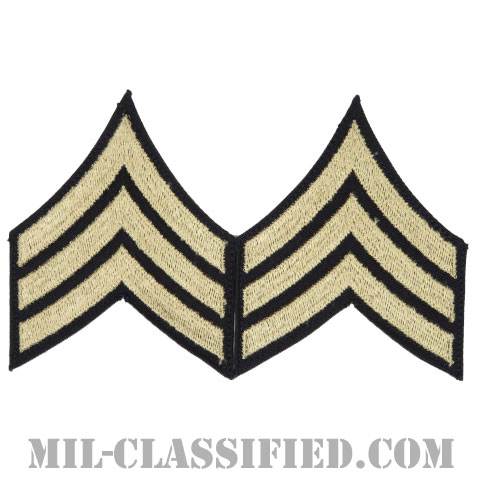 軍曹(Sergeant (SGT))[ツイル生地刺繍タイプ/階級章(1942-1948)/パッチ/ペア(2枚1組)]画像