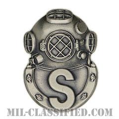 回収潜水員章(Diver Badge, Salvage)[カラー/燻し銀/バッジ]の画像