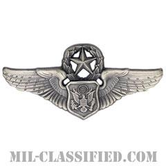 航空機搭乗員章 (将校用マスター・エアクルー)(Air Force Officer Master Aircrew Badge)[カラー/燻し銀/バッジ]の画像