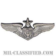 航空機搭乗員章 (将校用シニア・エアクルー)(Air Force Officer Senior Aircrew Badge)[カラー/燻し銀/バッジ]の画像