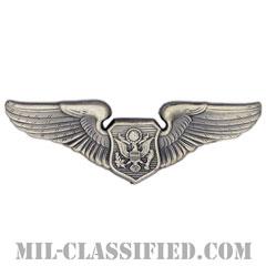 航空機搭乗員章 (将校用エアクルー)(Air Force Officer Aircrew Badge)[カラー/燻し銀/バッジ]の画像