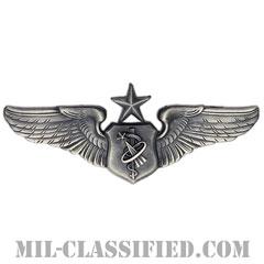 宇宙飛行医師章 (シニア)(Astronaut Flight Surgeon Badge, Senior)[カラー/燻し銀/バッジ]の画像