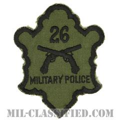 第26憲兵分遣隊(26th Military Police Detachment)[サブデュード/カットエッジ/パッチ/1点物]の画像