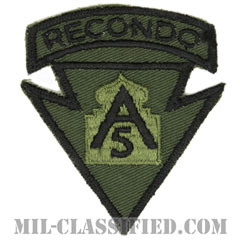第5軍リコンドースクール(5th Army Recondo School)[サブデュード/カットエッジ/パッチ/1点物]の画像