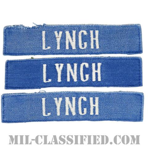 LYNCH[カラー(ブルー)/刺繍/ネームテープ/パッチ/中古1点物(3枚セット)]の画像