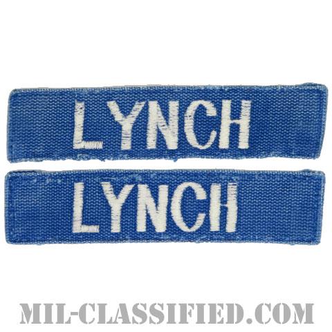 LYNCH[カラー(ブルー)/刺繍/ネームテープ/パッチ/中古1点物(2枚セット)]の画像