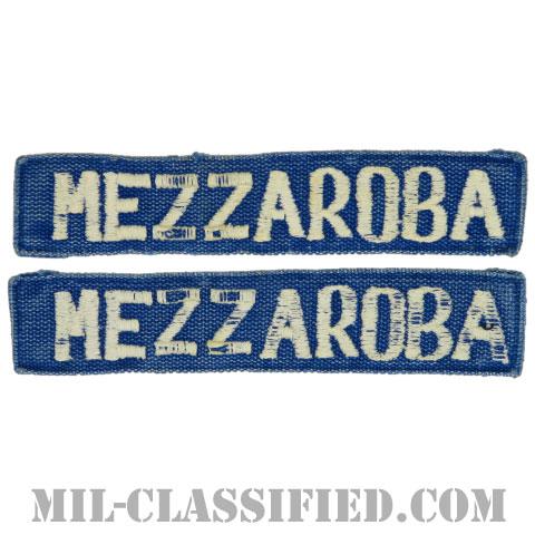 MEZZAROBA[カラー(ブルー)/刺繍/ネームテープ/パッチ/中古1点物(2枚セット)]の画像