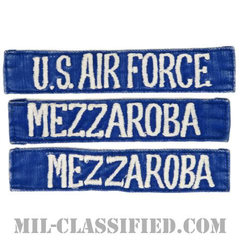 U.S.AIR FORCE / MEZZAROBA[カラー(ブルー)/刺繍/ネームテープ/パッチ/中古1点物(3枚セット)]の画像