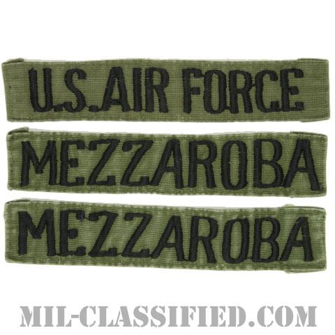 U.S.AIR FORCE / MEZZAROBA[サブデュード/刺繍/ネームテープ/パッチ/中古1点物(3枚セット)]の画像