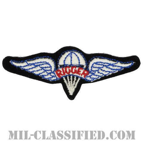 パラシュート整備士 (パラシュートリガー)(Parachute Rigger Badge)[カラー/カットエッジ/パッチ]の画像