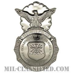 空軍警備隊章 (セキュリティーフォース・セキュリティーポリス)(Security Forces Badge, Security Police Badge)[カラー/鏡面仕上げ/バッジ/クラッチバック]の画像