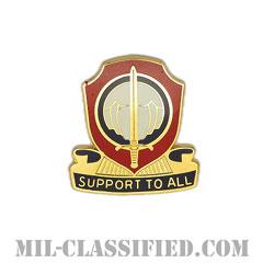 第82人事サービス大隊(82nd Personnel Services Battalion)[カラー/クレスト(Crest・DUI・DI)バッジ]の画像