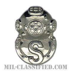 回収潜水員章(Diver Badge, Salvage)[カラー/鏡面仕上げ/バッジ]の画像