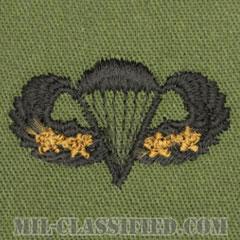 戦闘空挺章 (ベーシック) 降下4回(Combat Parachutist Badge, Basic, Four Jump)[サブデュード/パッチ]の画像