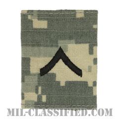 一等兵(Private Second Class (PV2))[UCP(ACU)/ゴアテックスパーカー用スライドオン階級章]の画像