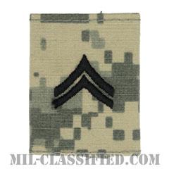 伍長(Corporal (CPL))[UCP(ACU)/ゴアテックスパーカー用スライドオン階級章]の画像