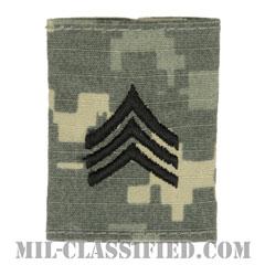 軍曹(Sergeant (SGT))[UCP(ACU)/ゴアテックスパーカー用スライドオン階級章]の画像
