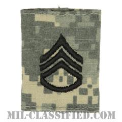 二等軍曹(Staff Sergeant (SSG))[UCP(ACU)/ゴアテックスパーカー用スライドオン階級章]の画像