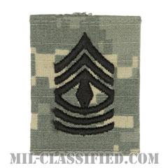先任曹長(First Sergeant (1SG))[UCP(ACU)/ゴアテックスパーカー用スライドオン階級章]の画像