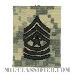 上級曹長(Sergeant Major (SGM))[UCP(ACU)/ゴアテックスパーカー用スライドオン階級章]の画像
