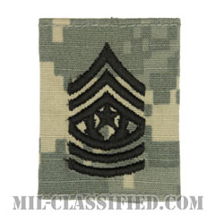 最上級曹長(Command Sergeant Major (CSM))[UCP(ACU)/ゴアテックスパーカー用スライドオン階級章]の画像