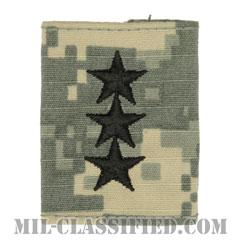 中将(Lieutenant General (LTG))[UCP(ACU)/ゴアテックスパーカー用スライドオン階級章]の画像