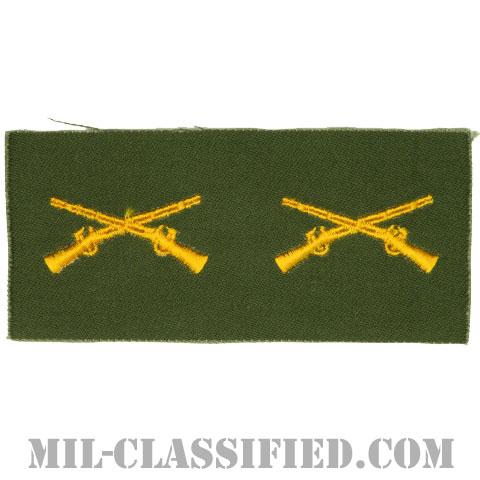 歩兵科章(Infantry Branch Insignia)[カラー/兵科章/パッチ/ペア(2枚1組)]の画像