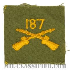 第187歩兵連隊歩兵科章(187th Infantry Regiment)[カラー/兵科章/パッチ/1点物]の画像