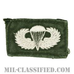 空挺章 (ベーシック)(Parachutist Badge, Basic)[カラー/パッチ/中古1点物]の画像