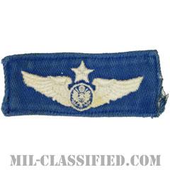 航空機搭乗員章 (下士官用シニア・エアクルー)(Air Force Enlisted Senior Aircrew Badge)[カラー/空軍ブルー生地/パッチ/中古1点物]の画像