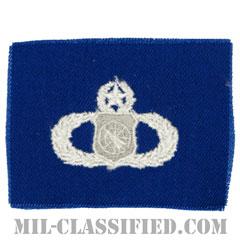 兵器指揮章 (マスター)(Weapons Director Badge, Master)[カラー/空軍ブルー生地/パッチ]の画像