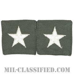 准将(Brigadier General (BG))[カラー/空軍セージグリーン生地/階級章/ペア(2枚1組)/中古1点物]の画像