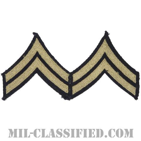 伍長(Corporal (CPL))[ツイル生地刺繍タイプ/階級章(1942-1948)/パッチ/ペア(2枚1組)/中古1点物]の画像